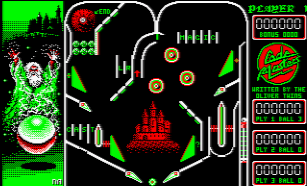 Скриншот Advanced Pinball Simulator на Amstrad CPC