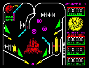 Скриншот Advanced Pinball Simulator на ZX Spectrum 48K/128K