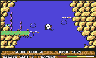 Скриншот Bubble Dizzy на Commodore 64/128