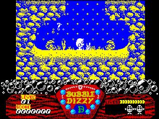 Скриншот Bubble Dizzy на ZX Spectrum 48K/128K