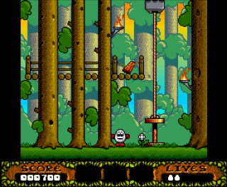 Первый скриншот Christmas Dizzy на Amiga