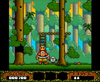 Второй скриншот Christmas Dizzy на Amstrad CPC